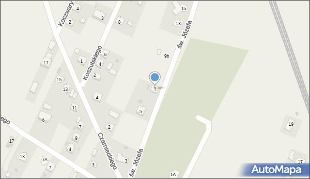 Żurawica, św. Józefa, 7, mapa Żurawica