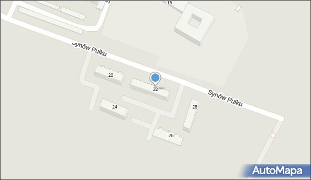 Chełm, Synów Pułku, 22, mapa Chełma