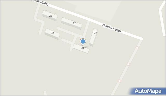 Chełm, Synów Pułku, 26, mapa Chełma
