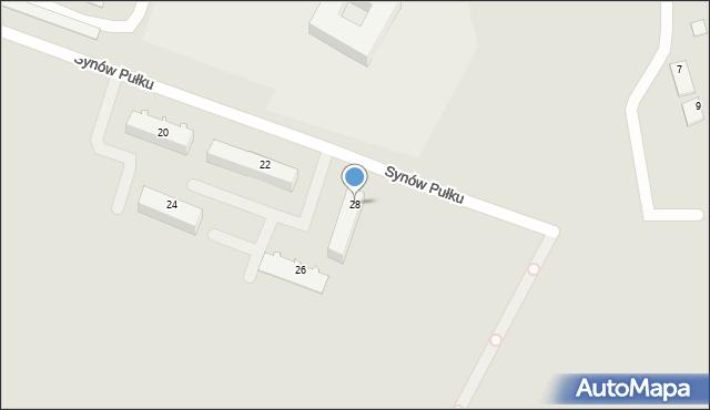Chełm, Synów Pułku, 28, mapa Chełma