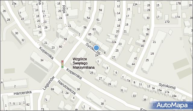 Gdynia, Syrokomli Władysława, 1A, mapa Gdyni
