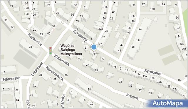 Gdynia, Syrokomli Władysława, 3, mapa Gdyni