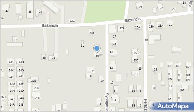 Warszawa, Synogarlicy, 15, mapa Warszawy