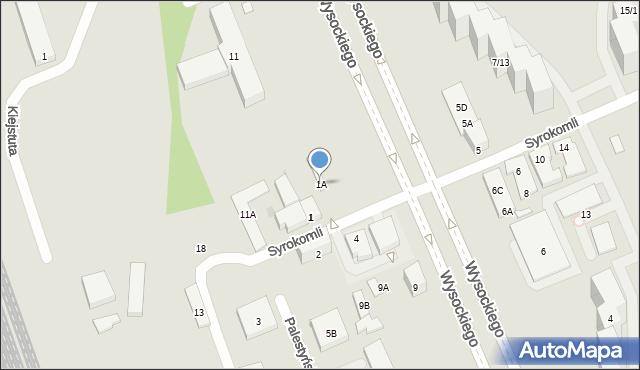 Warszawa, Syrokomli Władysława, 1A, mapa Warszawy