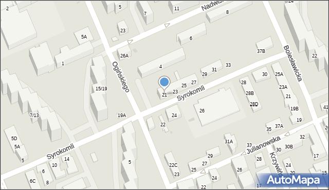 Warszawa, Syrokomli Władysława, 21, mapa Warszawy