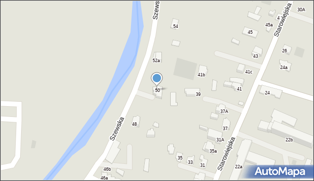 Andrychów, Szewska, 50, mapa Andrychów