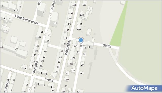 Bytom, Szafranka Józefa, ks., 23, mapa Bytomia