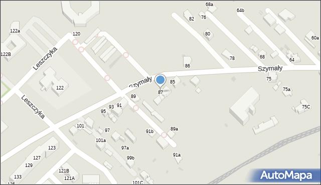 Bytom, Szymały, 87, mapa Bytomia