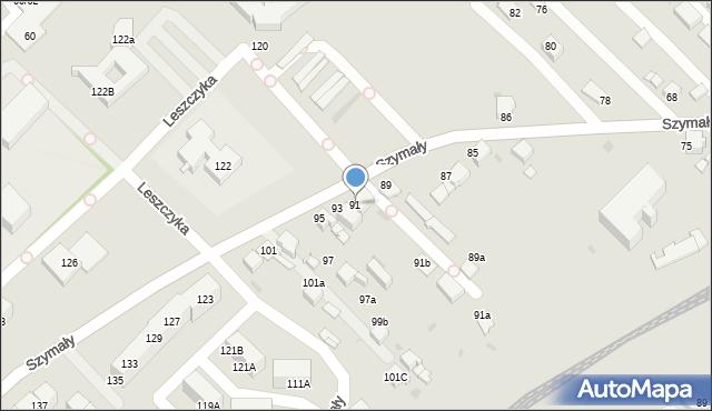 Bytom, Szymały, 91, mapa Bytomia