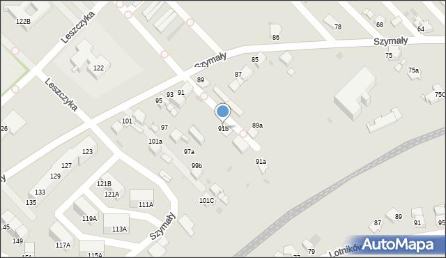 Bytom, Szymały, 91b, mapa Bytomia