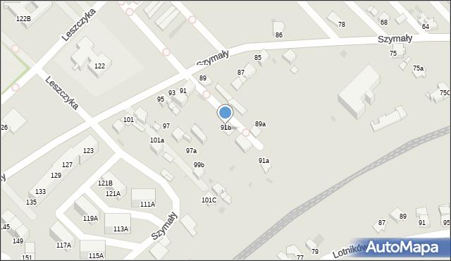 Bytom, Szymały, 91c, mapa Bytomia