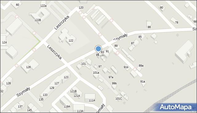 Bytom, Szymały, 95, mapa Bytomia