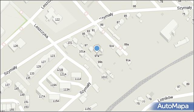Bytom, Szymały, 97a, mapa Bytomia