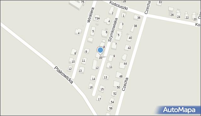 Bytom, Szymkowiaka Edwarda, 10, mapa Bytomia