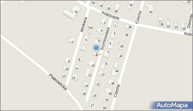 Bytom, Szymkowiaka Edwarda, 8, mapa Bytomia