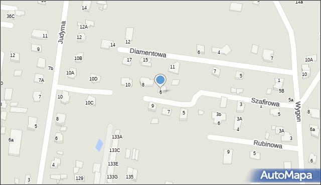 Chełm, Szafirowa, 6, mapa Chełma