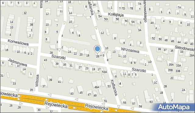 Chełm, Szarotki, 16, mapa Chełma