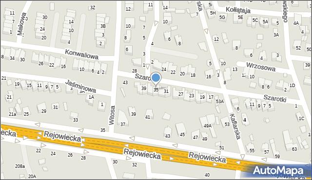 Chełm, Szarotki, 35, mapa Chełma