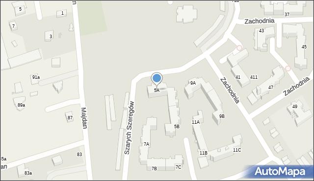 Chełm, Szarych Szeregów, 5A, mapa Chełma