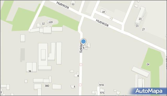 Chełm, Szklana, 5, mapa Chełma