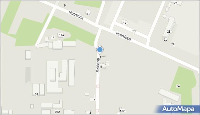 Chełm, Szklana, 7, mapa Chełma