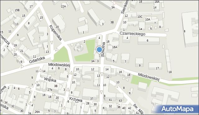 Chełm, Szkolna, 15, mapa Chełma
