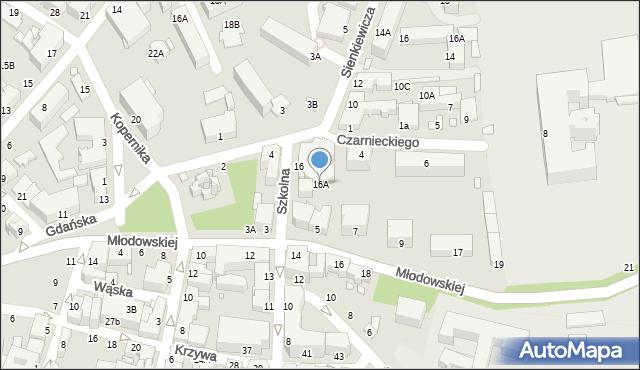 Chełm, Szkolna, 16A, mapa Chełma