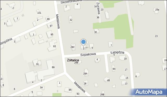 Chełm, Szpakowa, 3, mapa Chełma