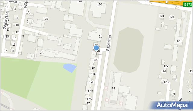 Chełm, Szpitalna, 19C, mapa Chełma