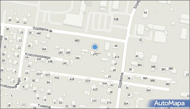 Chełm, Szpitalna, 47C, mapa Chełma