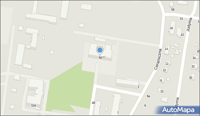 Chełm, Szpitalna, 50, mapa Chełma