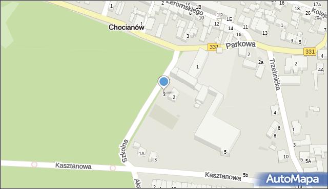 Chocianów, Szkolna, 3, mapa Chocianów