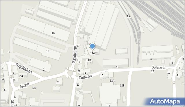 Chorzów, Szpitalna, 19A, mapa Chorzów