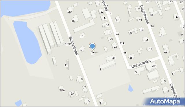 Częstochowa, Szamotowa, 10, mapa Częstochowy