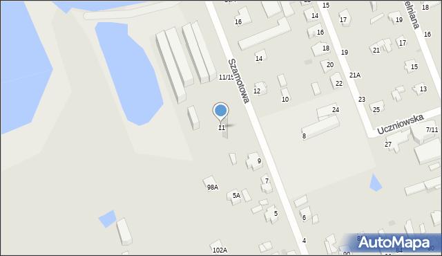 Częstochowa, Szamotowa, 11, mapa Częstochowy