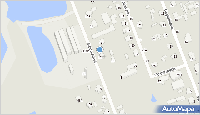 Częstochowa, Szamotowa, 12, mapa Częstochowy