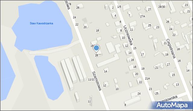 Częstochowa, Szamotowa, 16, mapa Częstochowy