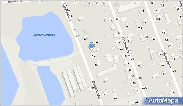 Częstochowa, Szamotowa, 16C, mapa Częstochowy