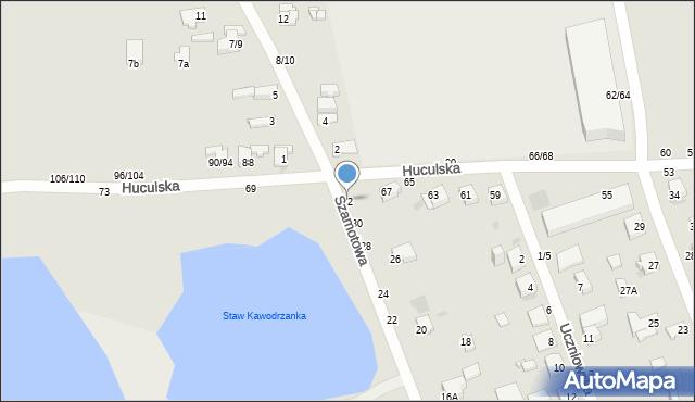 Częstochowa, Szamotowa, 32, mapa Częstochowy