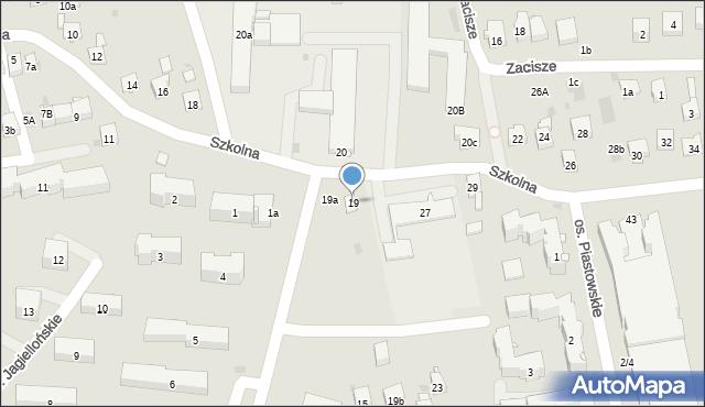 Dobczyce, Szkolna, 19, mapa Dobczyce