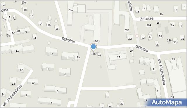 Dobczyce, Szkolna, 19a, mapa Dobczyce