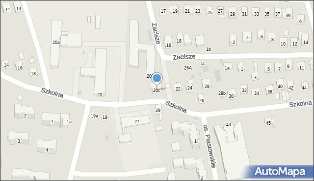 Dobczyce, Szkolna, 20c, mapa Dobczyce