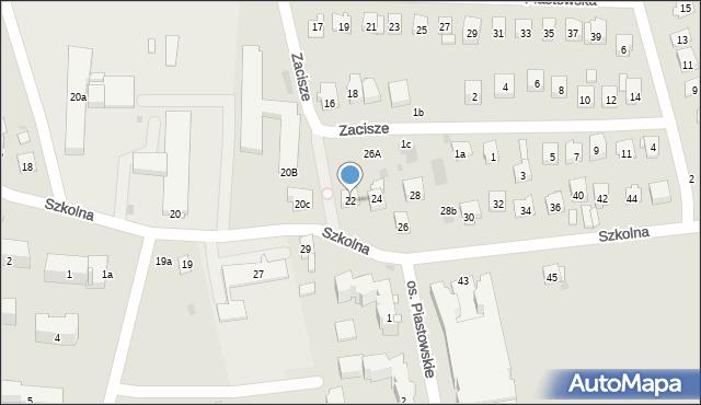 Dobczyce, Szkolna, 22, mapa Dobczyce