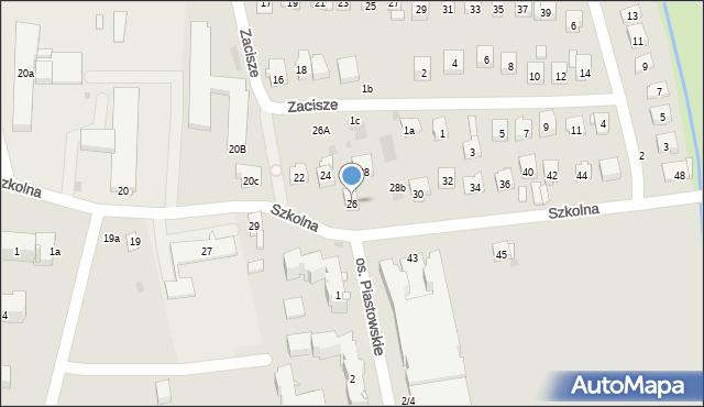 Dobczyce, Szkolna, 26, mapa Dobczyce