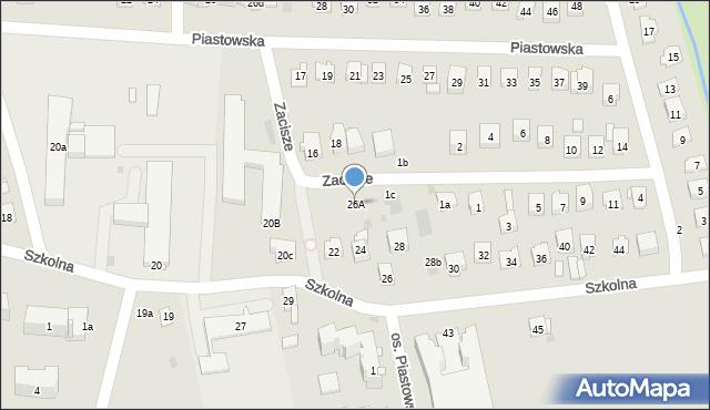 Dobczyce, Szkolna, 26A, mapa Dobczyce
