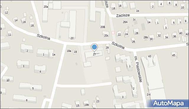Dobczyce, Szkolna, 27, mapa Dobczyce