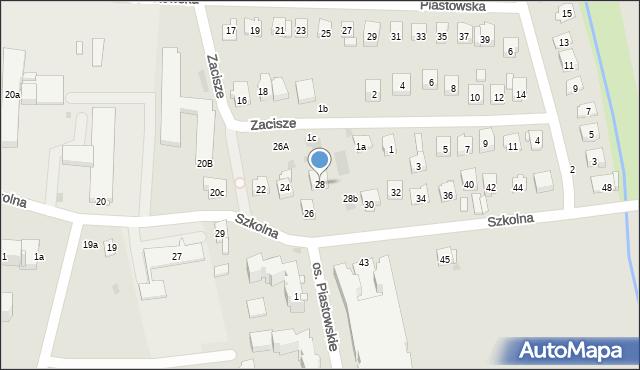 Dobczyce, Szkolna, 28, mapa Dobczyce