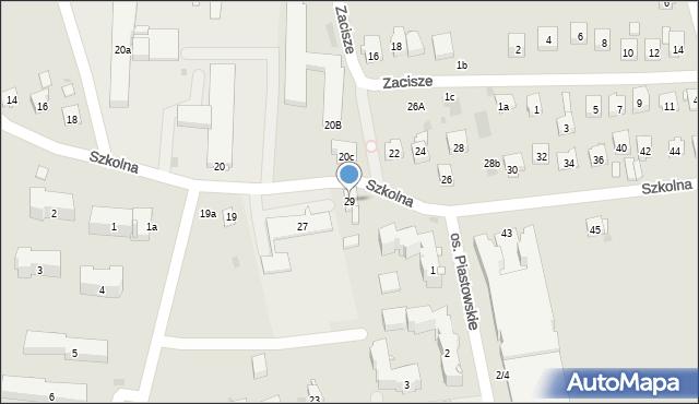 Dobczyce, Szkolna, 29, mapa Dobczyce