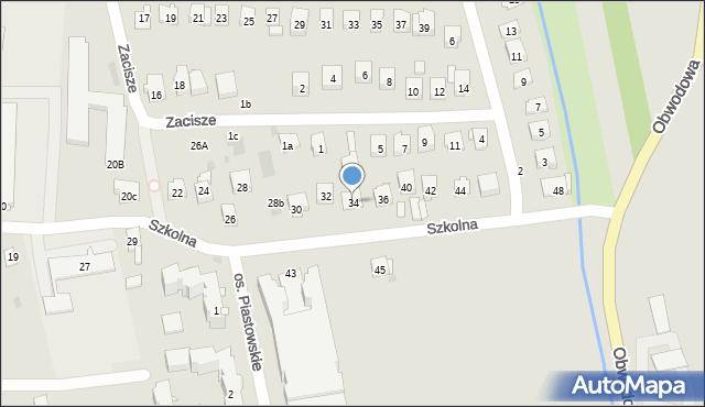 Dobczyce, Szkolna, 34, mapa Dobczyce