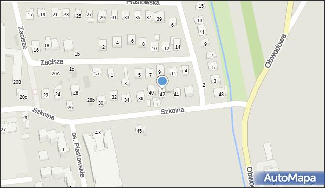 Dobczyce, Szkolna, 42, mapa Dobczyce